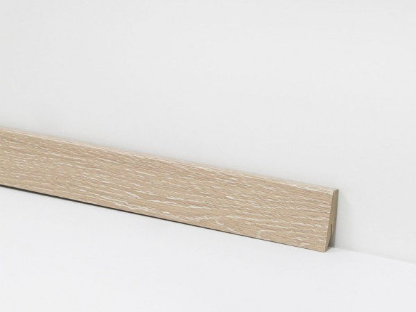 Vinyl Sockelleiste von Check, 2425 Kurl Eiche mit 18 x 58 x 2400 mm