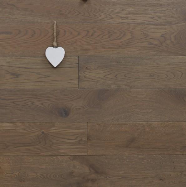 Dielenboden Eiche, Langdielen, optional in Fixlänge, mit Rubio Monocoat R311 havanna geölt, massiv, Kanten gefast, Nut / Feder Verbindung, Sonderanfertigung nach Kundenwunsch
