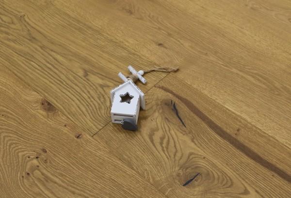 Parkettboden Eiche Camargue aus der Serie Provence, 14 x 190 (220) x 1900 (2200) mm, gebürstet, mit Rubio Monocoat R209 Smoked geölt, Välinge 5G Klick Verbindung, Sonderanfertigung nach Kundenwunsch