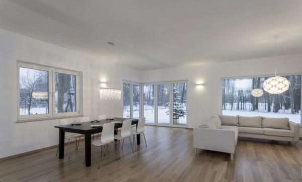 Parkettboden Eiche Finnland, 14 x 155 x 2200 mm, Markant, weiß UV geölt, Soft Lock Klick Verbindung