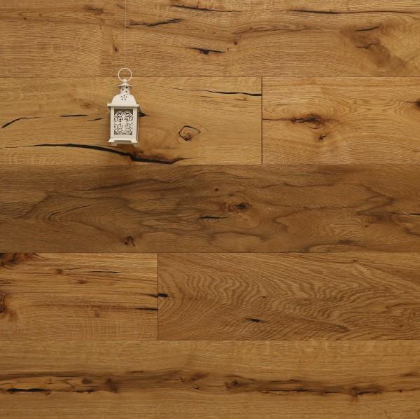 Restposten Parkettboden Eiche Schönberg aus der Serie Classic, 14 x 190 x 1900 mm, Rustikal, gebürstet, geölt, Drop Down Klick Verbindung