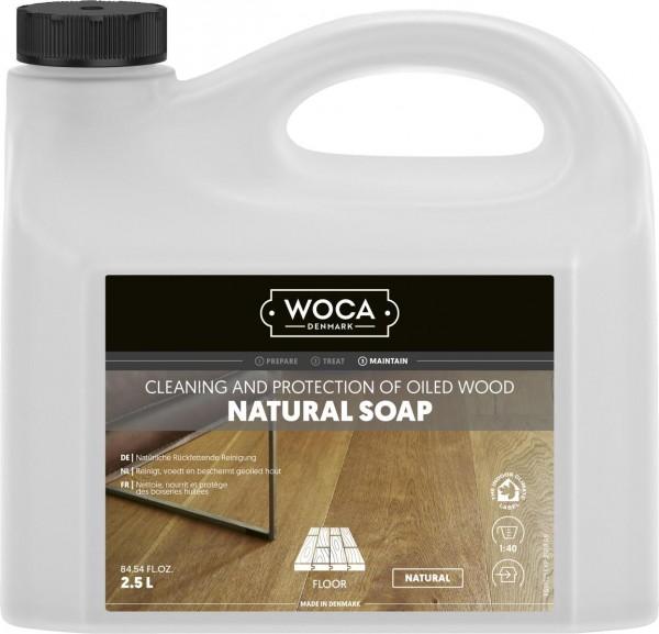 WOCA Holzbodenseife in natur, 2,5 Liter zur regelmäßigen Reinigung geölter Holzböden