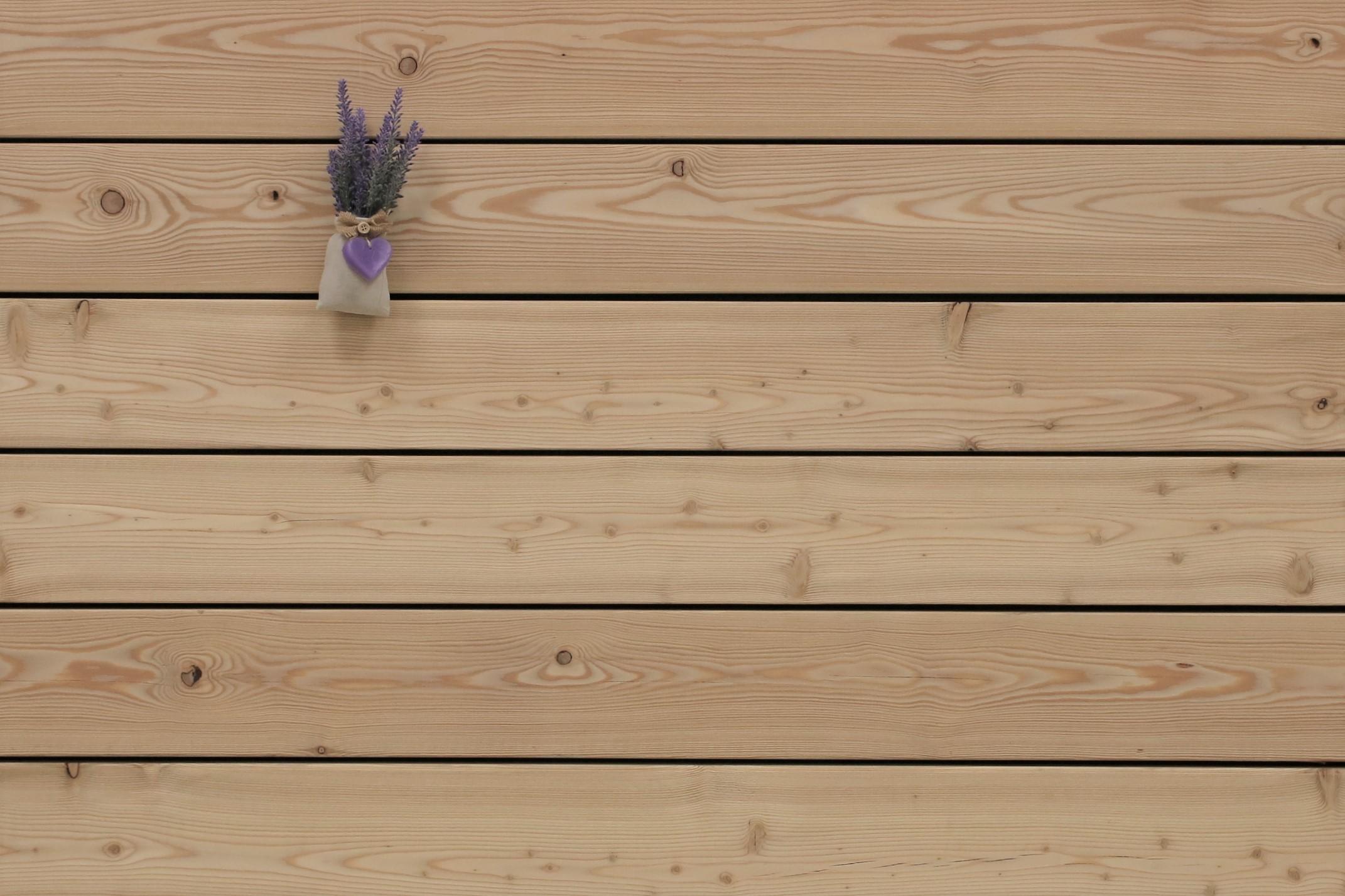 Angebot des Monats, Terrassendielen Sibirische Lärche, AB Sortierung, 26 x 143 bis 6000 mm, glatt für 6,90 €/lfm