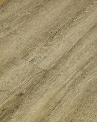 Klick Vinyl Designboden mit integrierter Trittschalldämmung, Futura Floors Lincoln, 6,5 x 175 x 1210 mm, Kanten gefast, Nutzungsklasse 33/42, Nutzschicht 0,5 mm, in Holzoptik mit stabiler SPC Vinyl Trägerplatte