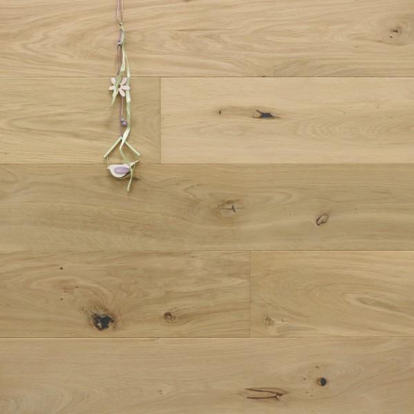 Parkettboden Eiche Apt aus der Serie Provence, 14 x 190 (220) x 1900 (2200) mm, mit WOCA spezial Neutralöl in Rohholzoptik geölt, Välinge 5G Klick Verbindung, Sonderanfertigung nach Kundenwunsch