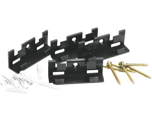 Befestigungsclips für Sockelleisten, Set mit 30 Clips, Schrauben und Dübeln, ausreichend für 15 m