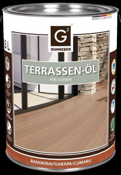 Garapa Öl von Gunreben, 2,5 Liter Terrassenöl für ca. 20-25 m²
