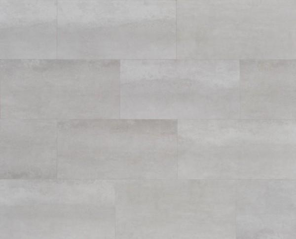 Klick Vinyl Designboden mit integrierter Trittschalldämmung, MEFO FLOOR Larimar in Fliesenoptik, 6,5 x 300 x 600 mm, Kanten gefast, Nutzungsklasse 33/42, Nutzschicht 0,5 mm, mit stabiler SPC Vinyl Trägerplatte