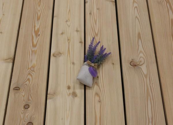 Angebot des Monats, Holzterrasse Sibirische Lärche, 26 x 143 bis 6000 mm, AB Sortierung, glatt, 6,90 €/lfm