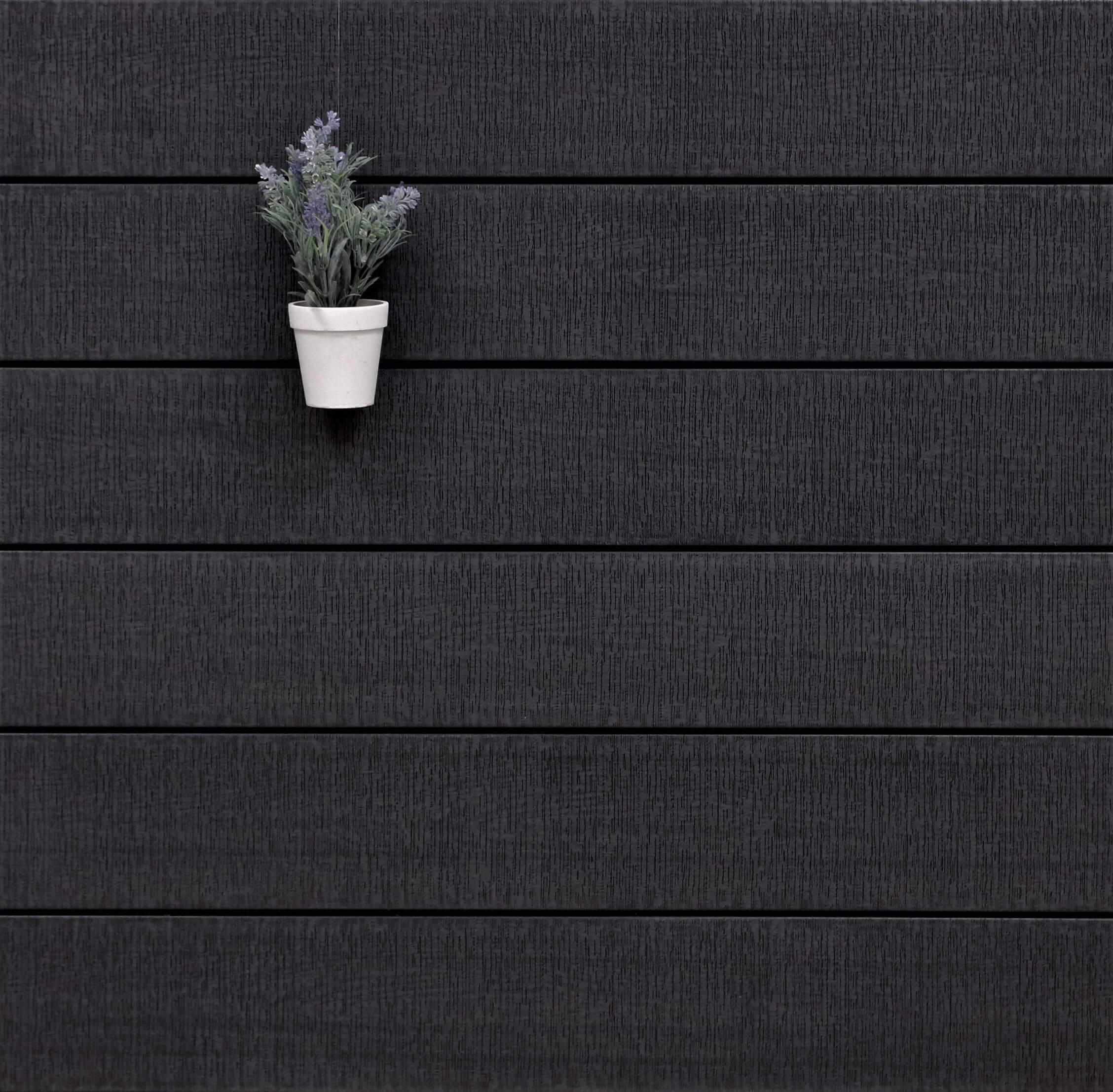 WPC Terrasse massiv, Vollprofil, 22 x 143 bis 4800 mm, sägerau grob im Farbton dunkelgrau, 9,20 €/lfm