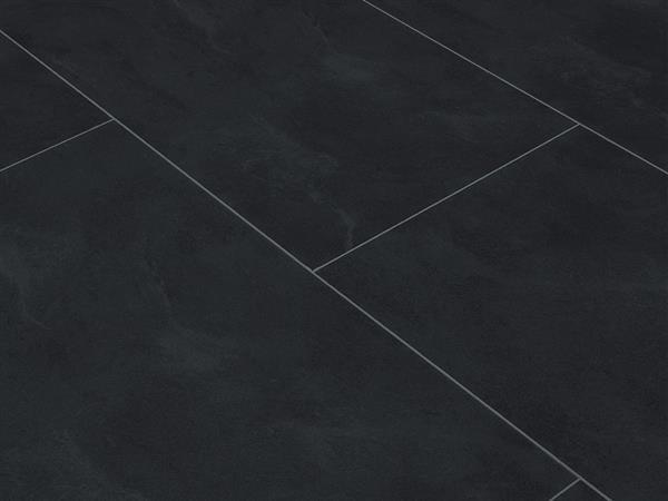Klick Vinyl Designboden Check one Eiberg Schiefer in Fliesenoptik XL, 4,0 x 830 x 450 mm, Kanten gefast, Nutzungsklasse 23/31, Nutzschicht 0,3 mm, mit stabiler RIGID Vinyl Trägerplatte
