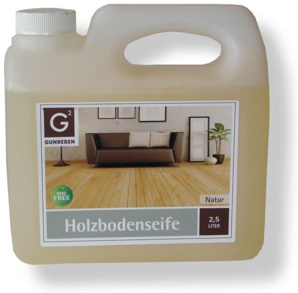 Gunreben Holzbodenseife in natur, 2,5 Liter zur regelmäßigen Reinigung geölter Holzböden