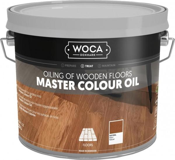 WOCA Meister Bodenöl in natur, 2,5 Liter zur Ersteinpflege geölter Holzböden
