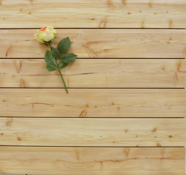 Holzterrasse Sibirische Lärche, 40 x 143 bis 5100 mm, AB Sortierung, fein gerillt, 6,90 €/lfm