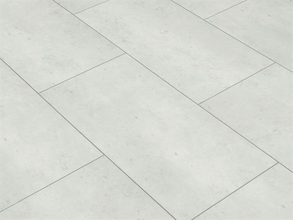Klick Vinyl Designboden Check one Rheinbaben Beton in Fliesenoptik, 4,0 x 305 x 610 mm, Kanten gefast, Nutzungsklasse 23/31, Nutzschicht 0,3 mm, mit stabiler RIGID Vinyl Trägerplatte