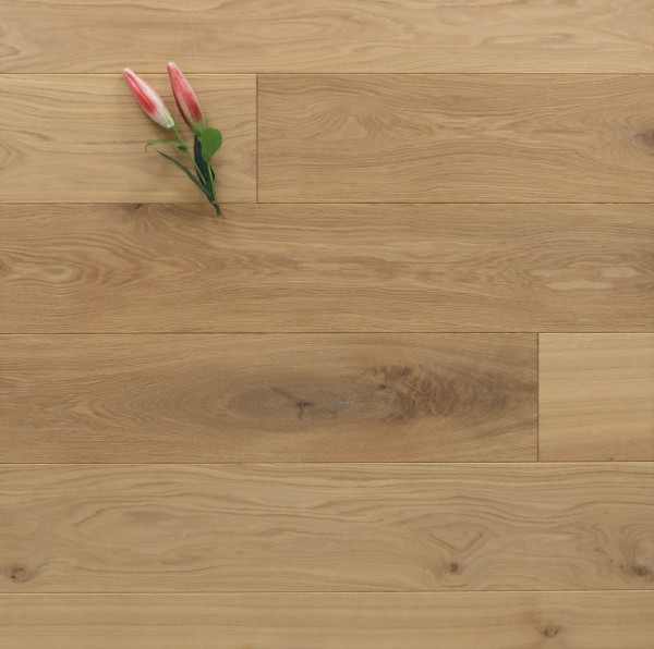Dielenboden Eiche, 20 x 180 / 200 mm, Schlossdielen von 1800 bis 5100 mm, mit einem Naturöl leicht weiß geölt, massiv, Nut / Feder Verbindung, Sonderanfertigung nach Kundenwunsch