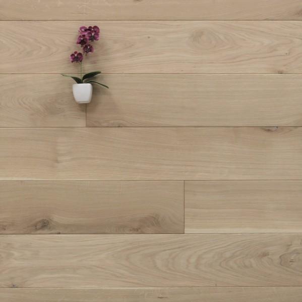 Dielenboden Eiche, 20 x 160 mm, Systemlängen von 500 bis 2000 mm, roh bzw. unbehandelte Oberfläche, massiv, Kanten gefast, Nut / Feder Verbindung, Sonderanfertigung nach Kundenwunsch