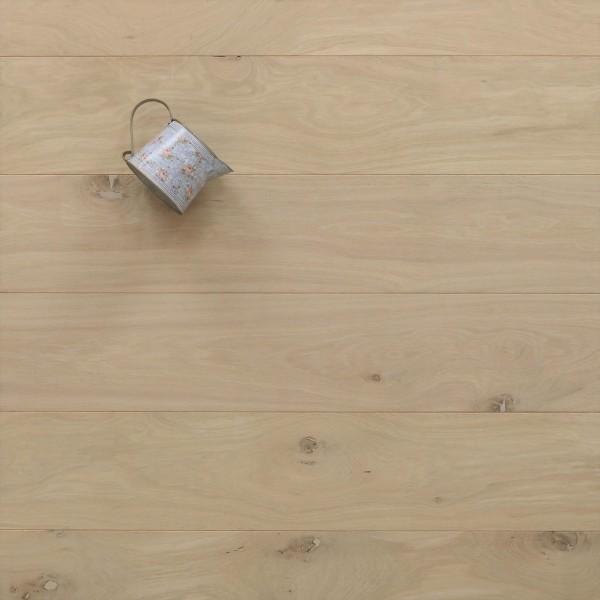 Schlossdielen Eiche, roh bzw. unbehandelte Oberfläche, aus massivem Holz, 21 x 180 / 200 mm von 2600 bis 5000 mm, Abmessungen nach Ihren Vorgaben, Kanten gefast, Nut / Feder Verbindung, Sonderanfertigung nach Kundenwunsch