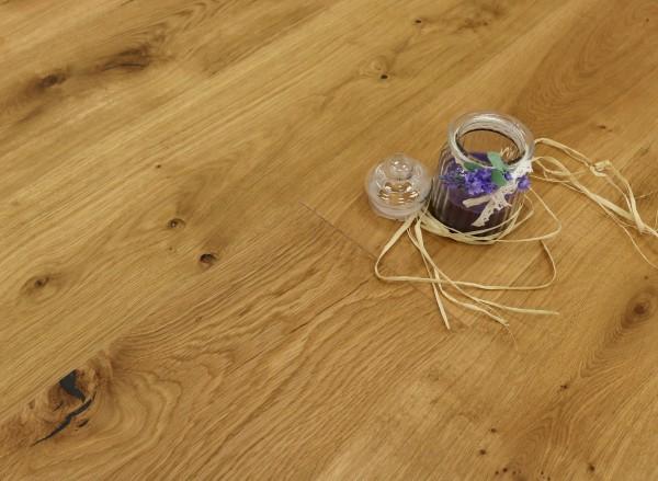 Parkettboden Eiche Palermo aus der Serie Italia, 14 x 190 x 1900 mm, Markant (Natur / Select), mit WOCA Naturöl geölt, Drop Down Klick Verbindung, Sonderanfertigung nach Kundenwunsch