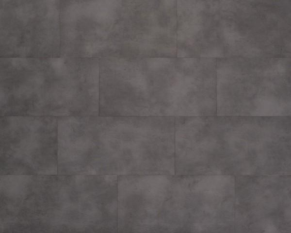 Klick Vinyl Designboden mit integrierter Trittschalldämmung, MEFO FLOOR Melanit in Fliesenoptik, 6,5 x 300 x 600 mm, Kanten gefast, Nutzungsklasse 33/42, Nutzschicht 0,5 mm, mit stabiler SPC Vinyl Trägerplatte