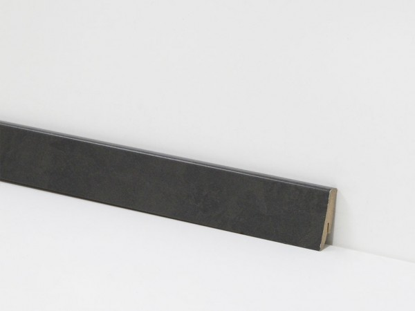 Vinyl Sockelleiste von Check, 2869 Eiberg Schiefer mit 18 x 58 x 2400 mm