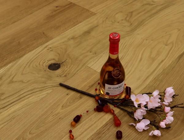 Parkettboden Eiche Spanien aus der Serie Vinum, 14 x 180 x 2200 mm, Markant, gebürstet, extrem matt lackiert, Soft Lock Klick Verbindung