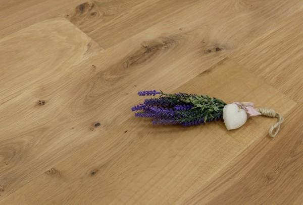 Parkettboden Eiche Florenz aus der Serie Italia, 14 x 190 x 1900 mm, Markant (Natur / Select), mit WOCA Naturöl leicht weiß geölt, Drop Down Klick Verbindung, Sonderanfertigung nach Kundenwunsch