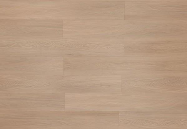 Restposten Klick Vinyl Designboden mit integrierter Trittschalldämmung, MEFO FLOOR Alabaster, 6,5 x 180 x 1220 mm, Kanten gefast, Beanspruchungsklasse 33/42, Nutzschicht 0,5 mm, in Holzoptik mit SPC Trägerplatte