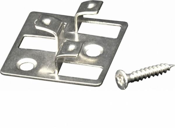 WPC Befestigungsclips 4 mm aus Edelstahl, Verpackung mit 150 Stück inkl. Schrauben, ausreichend für ca. 7,5 m² bzw. 52,5 lfm