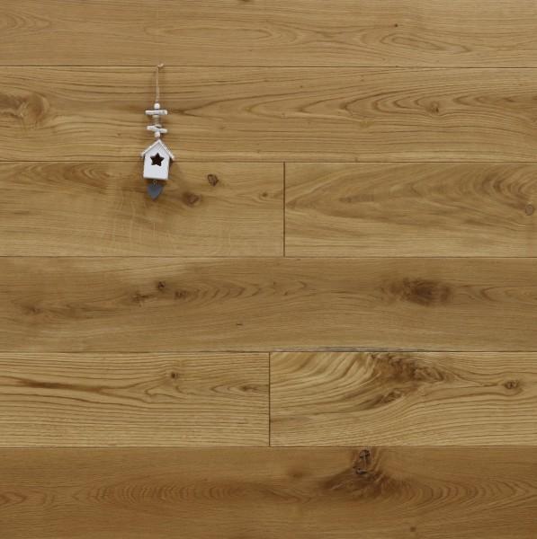 Schlossdielen Eiche, mit Osmo Hartwachsöl 5261 geölt, aus massivem Holz, 21 x 180 / 200 mm von 2600 bis 5000 mm, Abmessungen nach Ihren Vorgaben, Kanten gefast, Nut / Feder Verbindung, Sonderanfertigung nach Kundenwunsch