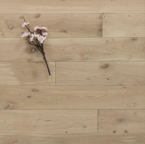 Dielenboden Eiche, 15 x 150 mm, Langdielen von 1800 bis 2200 mm, optional in Fixlänge, roh bzw. unbehandelte Oberfläche, massiv, Nut / Feder Verbindung, Sonderanfertigung nach Kundenwunsch