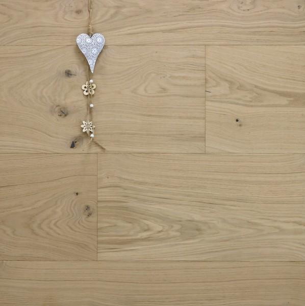 Schlossdielen Eiche Toulouse, roh bzw. noch unbehandelte Oberfläche, Mehrschicht Aufbau, 20 x 320 bis 5000 mm, Kanten gefast, Nut / Feder Verbindung