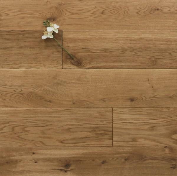 Schlossdielen Eiche, mit einem Naturöl geölt, aus massivem Holz, 20 x 180 / 200 mm von 1800 bis 5100 mm, Kanten gefast, Nut / Feder Verbindung