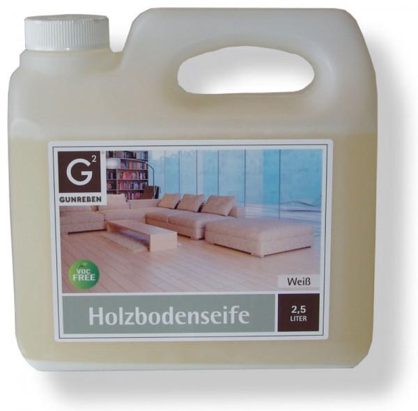 Gunreben Holzbodenseife in weiß, 2,5 Liter zur regelmäßigen Reinigung weiß geölter Holzböden