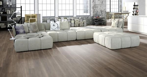 Klick Vinyl Designboden Gunreben Merkur Home in Holzoptik, 4,2 x 182 x 1220 mm, scharfkantig, Nutzungsklasse 23/31, Nutzschicht 0,3 mm, Vinyl mit elastischer Trägerplatte