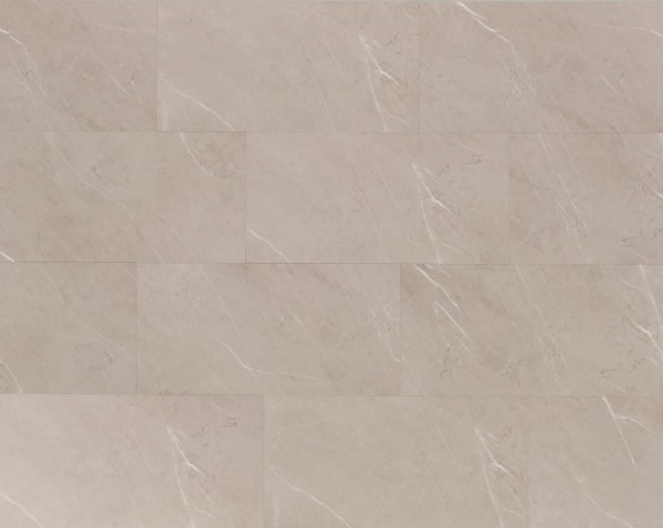 Klick Vinyl Designboden mit integrierter Trittschalldämmung, MEFO FLOOR Travertin in Fliesenoptik, 6,5 x 300 x 600 mm, Kanten gefast, Nutzungsklasse 33/42, Nutzschicht 0,5 mm, mit stabiler SPC Vinyl Trägerplatte