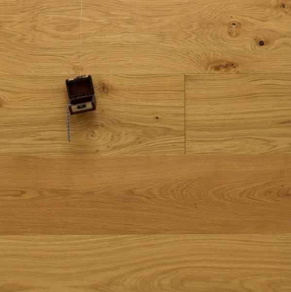 Schlossdielen Eiche Hofadel, gebürstet, mit Masteröl geölt, Mehrschicht Aufbau, 15 x 250 x 2200 mm, Kanten gefast, Nut / Feder Verbindung