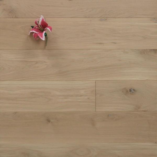 Dielenboden Eiche, 20 x 180 mm, Langdielen von 1800 bis 2200 mm, optional in Fixlänge, roh bzw. unbehandelte Oberfläche, massiv, Nut / Feder Verbindung, Sonderanfertigung nach Kundenwunsch