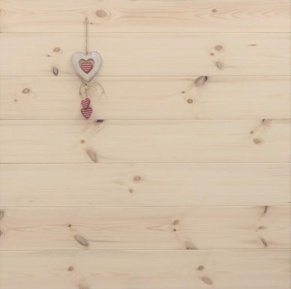 Schlossdielen Kiefer, Markant, aus massivem Holz, 27 x 182 mm von 3250 bis 5350 mm, optional in Fixlänge, Kanten gefast, Nut / Feder Verbindung