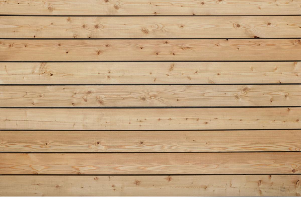 Sibirische Lärche Terrassendielen, glatt, AB Sortierung, 45 x 143 bis 6000 mm für 7,40 €/lfm