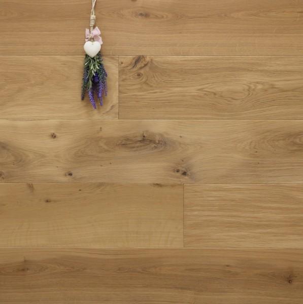 Parkettboden Eiche Cassis aus der Serie Provence, 14 x 190 (220) x 1900 (2200) mm, mit WOCA Naturöl leicht weiß geölt, Välinge 5G Klick Verbindung, Sonderanfertigung nach Kundenwunsch