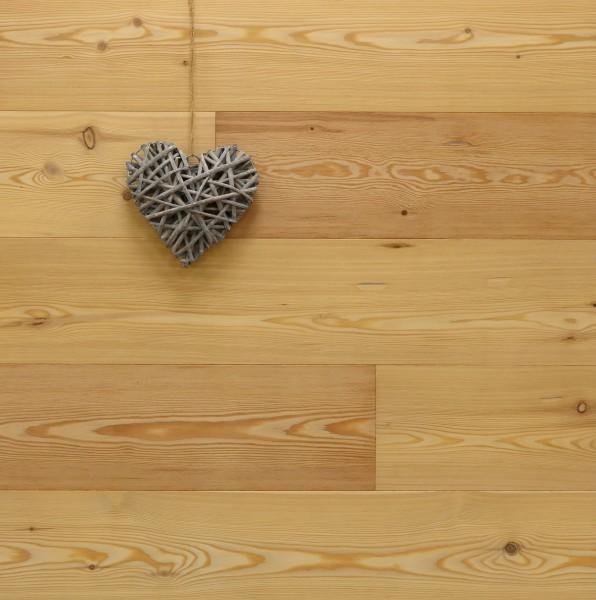 Parkettboden Lärche Göteborg, 15 x 190 x 1900 mm, Markant, roh bzw. unbehandelte Oberfläche, Drop Down Klick Verbindung