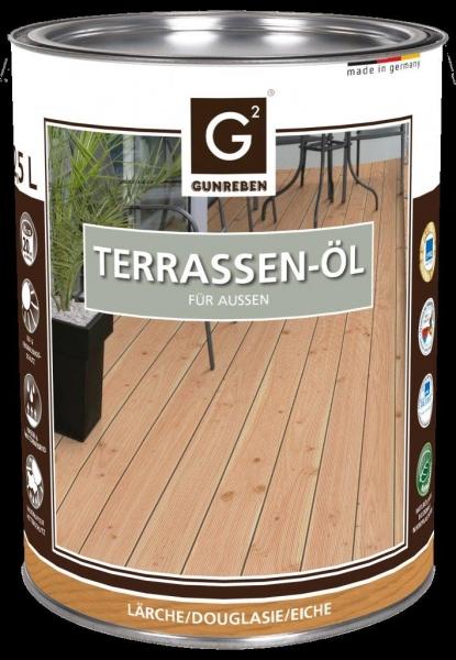 Lärchen Öl von Gunreben, 2,5 Liter Terrassenöl für ca. 20-25 m²