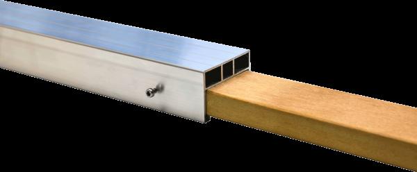 Hartholz zum Verlängern der 24 x 58 mm Alu Unterkonstruktion