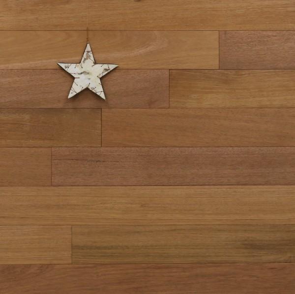 Dielenboden Merbau, 15 x 120 mm, Systemlängen von 600 bis 2100 mm, Select, massiv, Kanten gefast, Nut / Feder Verbindung