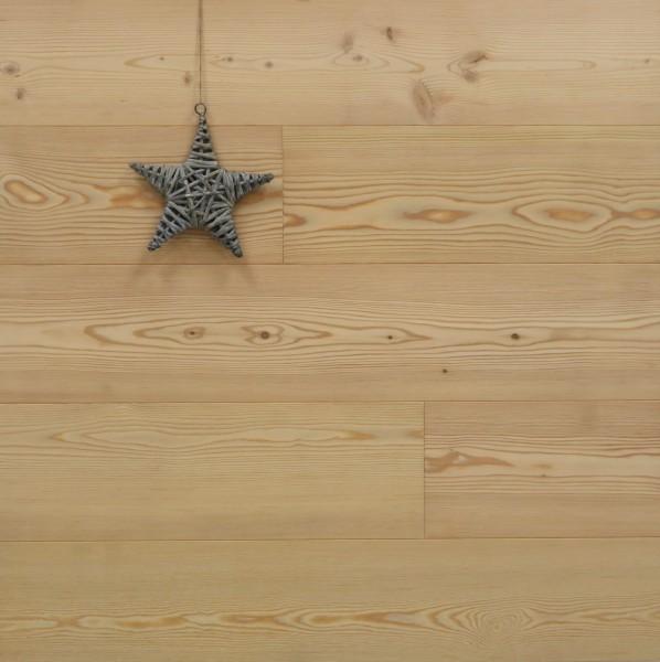 Parkettboden Lärche Stockholm, 15 x 190 x 1900 mm, Markant, roh bzw. unbehandelte Oberfläche, Nut / Feder Verbindung