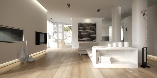 Parkettboden Eiche Livorno aus der Serie Italia, 14 x 190 x 1900 mm, Select, noch unbehandelte Oberfläche, Drop Down Klick Verbindung