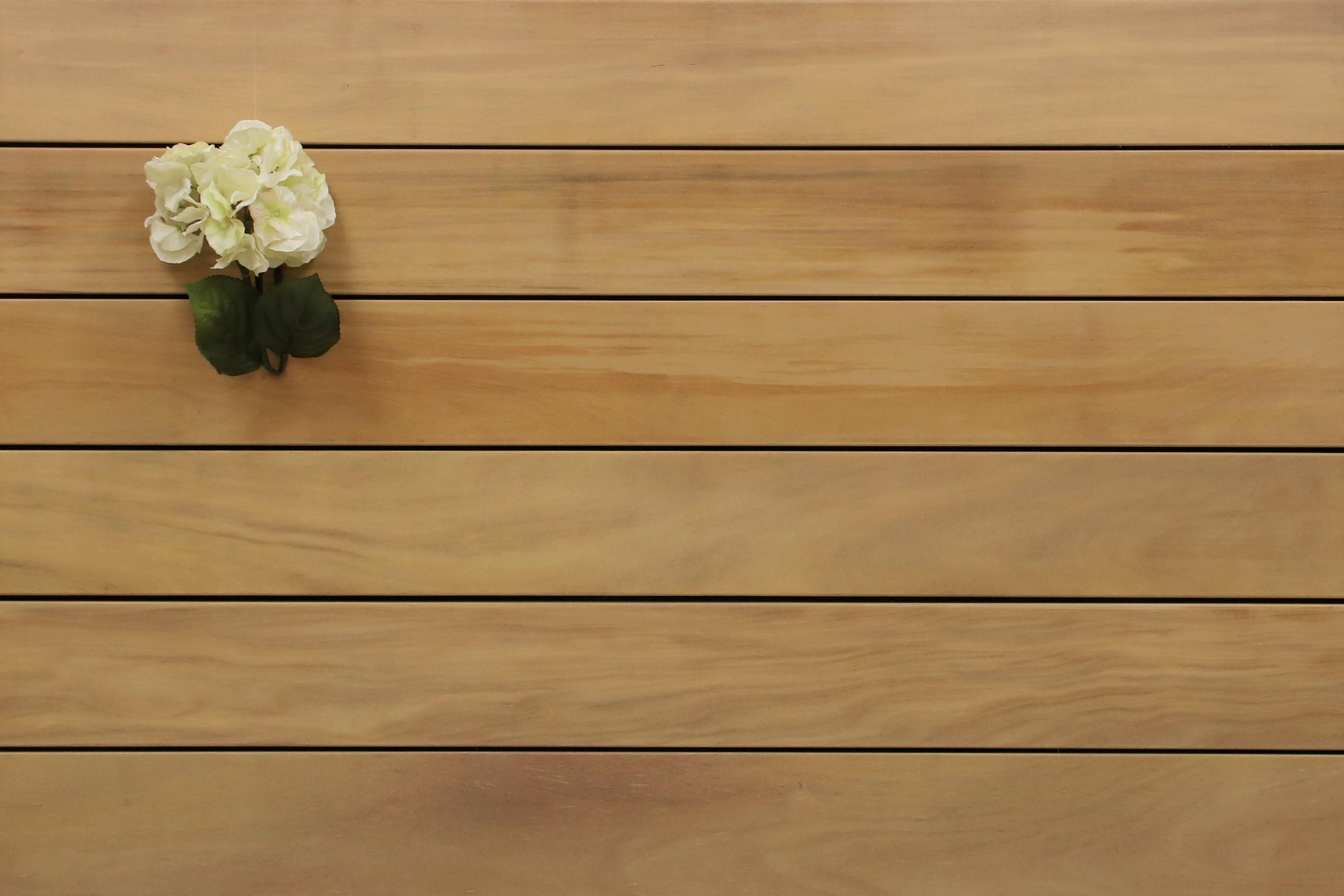 Garapa Holz Dielen für die Terrasse, 8,40 €/lfm, Premium (KD) glatt, 21 x 145 bis 6100 mm, Terrassendielen Bretter