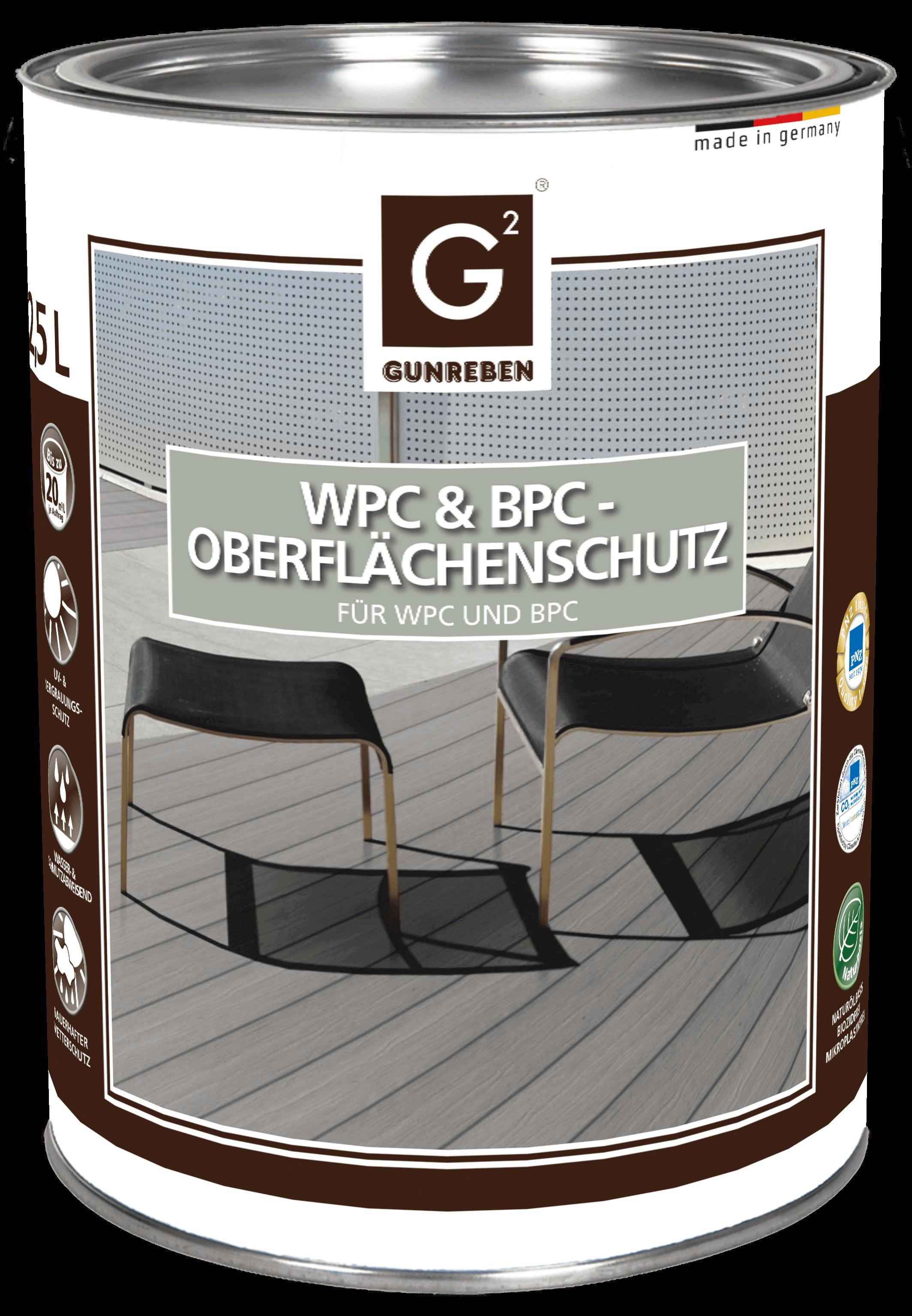 Gunreben WPC Pflege Öl farblos, Kanister mit 2,5 Liter für ca. 20-40 m²