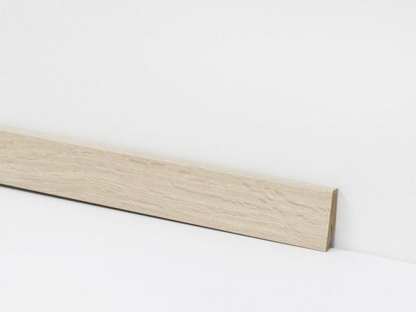 Vinyl Sockelleiste von Check, 8017 Heinrich oder Schloven Eiche mit 18 x 58 x 2400 mm